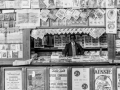 Newspaper and magazine stand